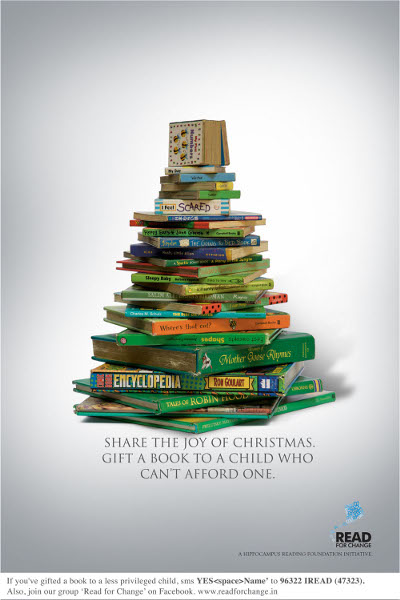 Read For Change - Christmas Poster
